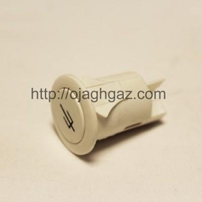 کلید برق گرد سفید | کلید جوجه گردان  |  دکمه لامپ  | کلید فندک