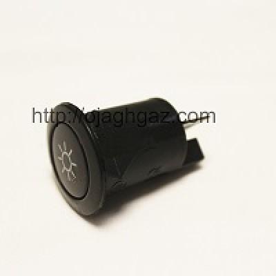 کلید لامپ مشکی| کلید جوجه گردان مشکی  |  دکمه لامپ  | کلید فندک