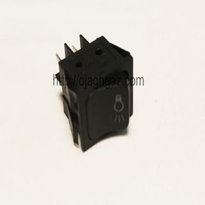 کلید لامپ کروز مشکی | دکمه لامپ مربع مشکی