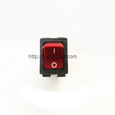 کلید تک پل  کروز  مشکی و قرمز | دکمه  تک پل مربع قرمز و مشکی